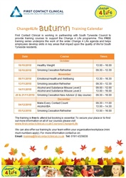 Autumn Training Calendar